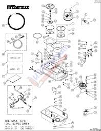 thermax cp3 heated extractor cleaning unit parts list schematic thermax cp3 professional hot water extraction cleaning system main unit parts list schematic
