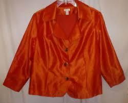 Details About Chicos Burnt Orange Sateen 100 Polyeste 3 Button Jacket 99 Size 3 16 Nwot