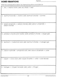 balancing chemical equation worksheet balancing equations