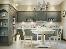 small kitchen remodel with replacement of grey painted on cabinets and addition of decorations objects plus wall sconces with chandelier also wall decor
