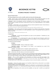 How To Make A Chart For A Science Fair Project Science Project Format Research Project