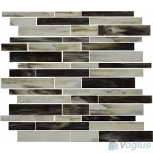 gray linear tiffany glass mosaic tile vg tf65