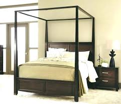 Full Size White Canopy Bed Wood Four Poster Bed Canopy Bed Full Size ...