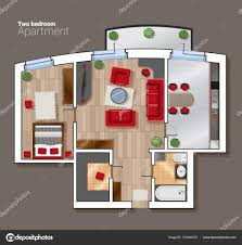 designer office desk isolated objects top view. Furniture Top View Engineering Modern Vector Floor Plan Of The House Room Dining Incredible Designer Office Desk Isolated Objects D