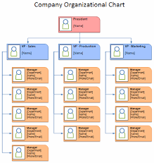 Organisational Flow Chart Excel Download The Company Organizational Chart From Vertex42 Com