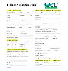 Auto Credit Application Template Form Free Word Download Fresh ...
