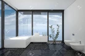 Badezimmer Des Hotelzimmers Oder Penthouse In Minimalistische