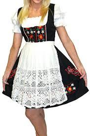 Dirndl Trachten Haus 3 Piece Short German Wear Party Oktoberfest Hostess Dress 22 52 Black