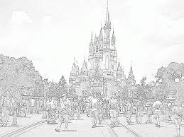 Disney beauty and the beast. Coloring Page Of Castle Coloring Home
