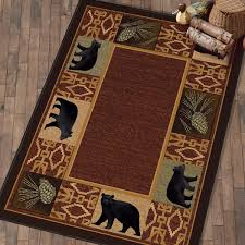 rustic wildlife rugs including moose and bear rugs black forest décor