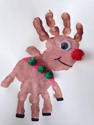 Christmas Crafts 10 Handprint Christmas Crafts For Kids Reindeer Craft And Craft