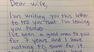 Husband Demands Divorce In Letter His Wife Brilliant Reply Makes