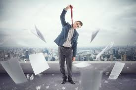 pictures to hang in office. Young Office Worker On Roof Is Tired To Death Of Papers And Ready Hang A Tie Pictures In R