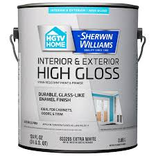 home by sherwin williams door and trim tint base high gloss latex interior exterior paint and primer in one actual net contents 124 fl oz