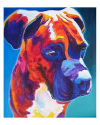 boxer pet portrait dawgart dog art pet portrait artist colorful pet portrait boxer art pet portrait painting art prints