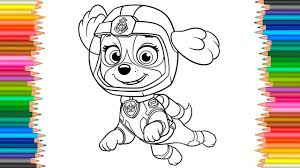 Skye Sea Patrol Coloring Pages Paw Patrol Coloring Book Videos For