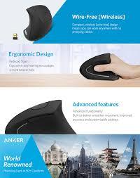 Anker 2.4G Wireless Vertical Ergonomic Optical ... - Amazon.com