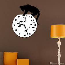 tom and jerry 3d wall clock wall mirror sticker clock watch mirror stickers home cat wall decor decals wall clock modern design 30 wall clock 30 wall clocks
