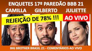 BBB 21: ENQUETES Último Paredão BBB21 - 02/05/2021 - BIG BROTHER BRASIL -  COMENTÁRIOS AO VIVO - YouTube