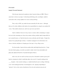 Personal Statement For College Sample Personal Statement College