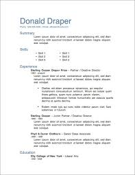 Unique Resume Templates For Word 2013 Resume Template Information