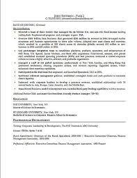 Financial Executive Resume Sample