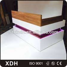 modern wooden office counter desk buy wooden. Modern Wooden Cashier Counter Office Reception Desk With LED Light Buy