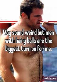 Men with hairy balls