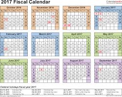 Calendar Year Quarters Fiscal Calendars 2017 Free Printable Pdf Templates