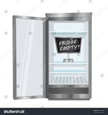 Commercial Refrigerators For Home Use Empty Fridge Commercial Freezer Opened Door Stock Vector 492855346