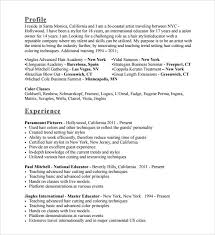 Natural Hair Stylist Resume