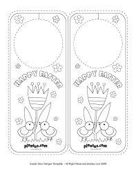 door hangers templates. Easter Door Hanger Template Hangers Templates