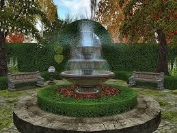 fountain garden. Garden With A Fountain U