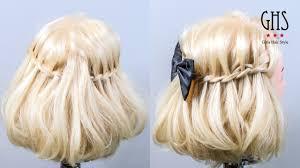 ゆるふわボブ編み込みミディアムハーフアップヘアアレンジ Hair