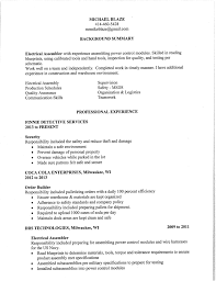 Resume Order Of Work Experience