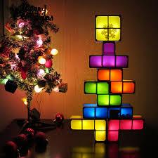 diy tetris puzzle novelty led night light stackable led desk table lamp constructible block kids toy s