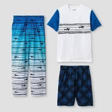 pajama pajamas shark target boys 3 piece pajama set cat jackacirc132cent white