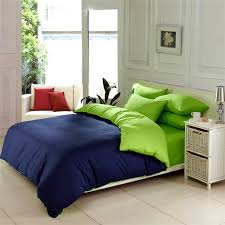 image of solid green comforter