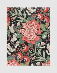 wall art textile design with flowers