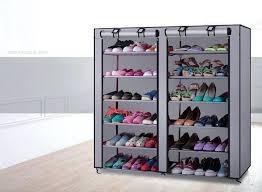 medium size of closetmaid shoe organizer white 25 pair canada 6 layer boot rack storage wardrobe