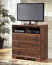 timberline warm brown media chest
