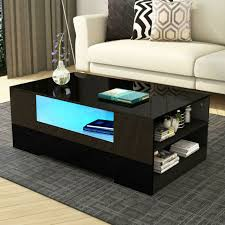 high gloss white coffee table round
