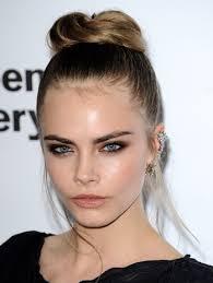 cara delevingne hairstyle bun