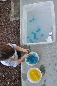 winter outdoor activities. Simple Winter Color Mixing With Ice With Winter Outdoor Activities