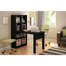 Home office desk with storage Solutions South Shore Annexe 2in1 Piece Pure Black Office Suite7270798 The Home Depot Birtan Sogutma South Shore Annexe 2in1 Piece Pure Black Office Suite7270798