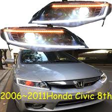 2008 Honda Civic Daytime Running Lights Us 533 9 5 Off Video Cars Styling Headlights For Civic 8th Headlight Drl 2006 2007 2008 2009 2010 2011year Led Running Lights Bi Xenon Fog In Car
