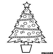Christmas Tree Online Coloring Page