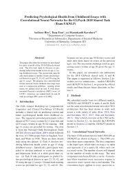 Childhood Essays Pdf Predicting Psychological Health From Childhood Essays