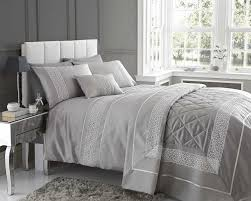 stunning design emse in a modern silver colour quilt cover 2 pillow cases sets