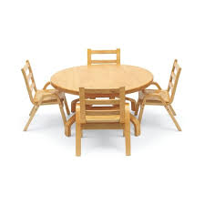 real wood table chair set
